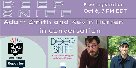 Book Launch: DEEP SNIFF, with author Adam Zmith and Kevin Hurren! tickets