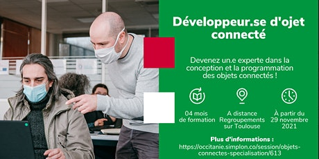 INFO CO - TOULOUSE / Développeur d'objet connecté - Simplon (en ligne) billets