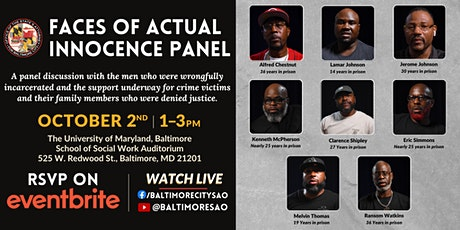 The Faces of Actual Innocence - Space is limited! Registration is required. tickets