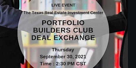 Portfolio Builders Club Deal Exchange (Live Event) tickets