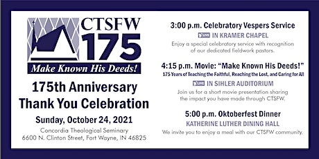 175th Anniversary Thank You Celebration tickets