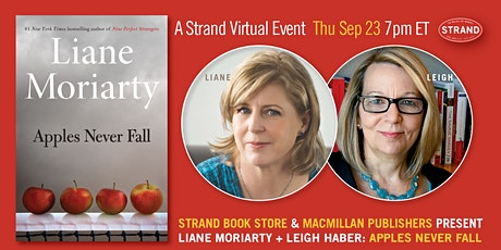 Macmillan Publishers - Liane Moriarty + Leigh Haber: Apples Never Fall tickets