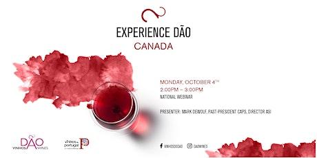 EXPERIENCE DÃO CANADA - NATIONAL WEBINAR tickets