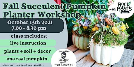 Fall Succulent Pumpkin Planter Workshop at Frothy Beard Brewing Company tickets