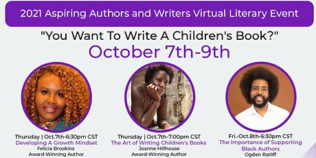 """"""" You Want To Write A Children's Book?""""- 2021 Virtual Literary Event tickets"""