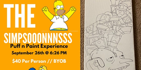A Simpsons Themed Puff n Paint Experience In Atlanta, GA! tickets