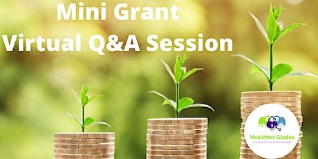 Healthier Glades Mini Grant Virtual Q&A tickets