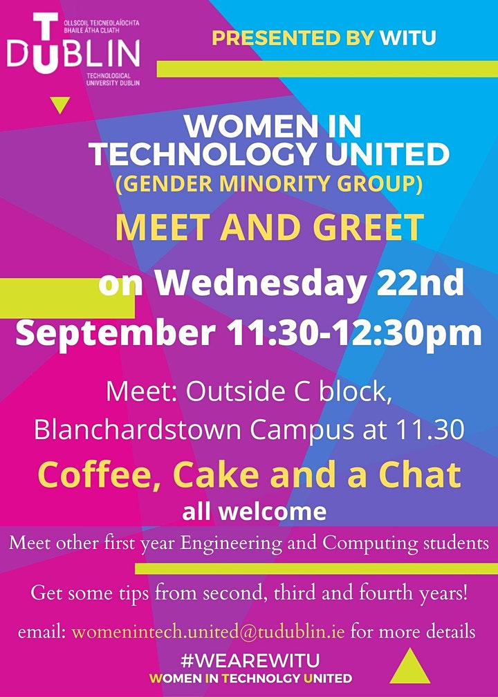 TU Dublin, Women in Technology United, Meet and Greet for students image