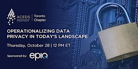 Operationalizing Data Privacy in Today's Landscape biglietti