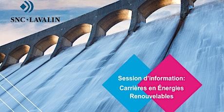 SNCL Series : Carrières en Énergies renouvelables tickets