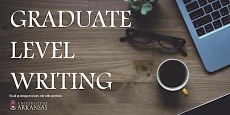 A Sound Academic Argument: Grad Writing Week tickets