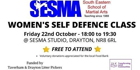 Self Defence Class for Women at  SESMA ***ADULTS ONLY*** - 22.10.2021 tickets
