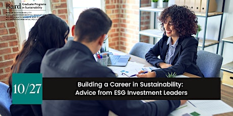 Building a Career in Sustainability: Advice from ESG Investment Leaders tickets