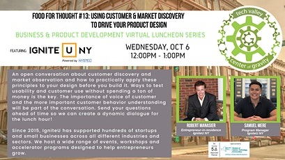 Food for Thought #13: Customer & Market Discovery to Drive Product Design tickets