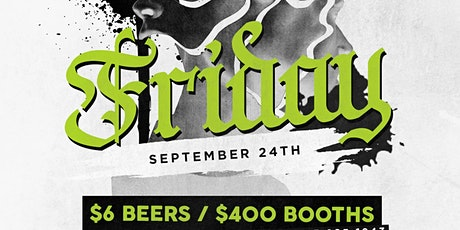 Fiction Fridays @ Fiction | Fri Sept 24 | $400 Boo tickets