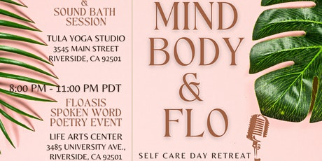 """Floasis presents """"MIND, BODY & FLO"""" Self Care Day Retreat tickets"""