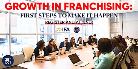 Growth In Franchising: First Steps To Make It Happen tickets
