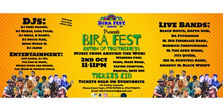 BIRA FESTIVAL---Rhythm of Togetherness billets