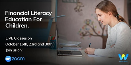 LIVE Financial Literacy  Classes For Grades 3&4 (40 min.) tickets