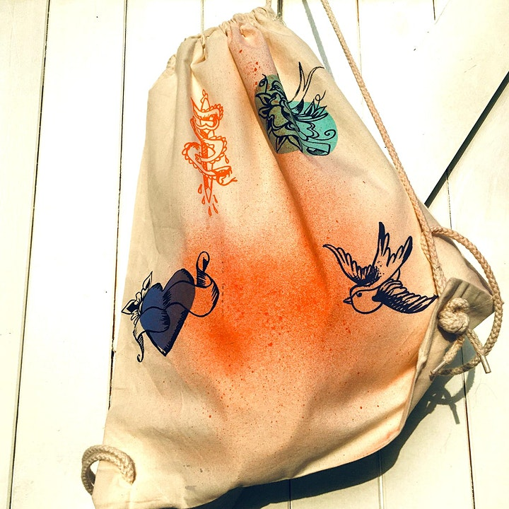 Children's printed drawstring bag for Craft Month image