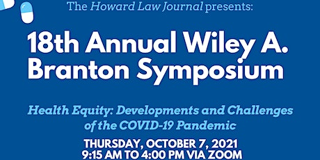 18th Annual Wiley A. Branton Symposium by Howard Law Journal tickets