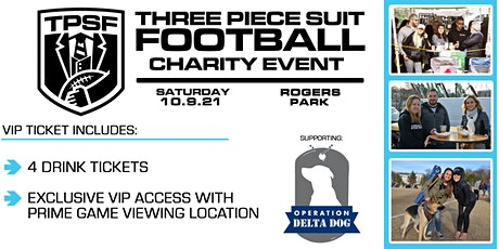 VIP Ticket - Three Piece Suit Football Boston 2021 Charity Event tickets