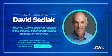 #SocioHonorario Prof. David Sedlak - Agua 4.0 bilhetes