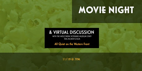 Movie Night Virtual Discussion - All Quiet on the Western Front (1930) tickets
