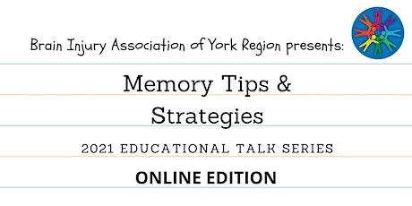 Memory Tips & Strategies - 2021 BIAYR Educational Talk Series tickets