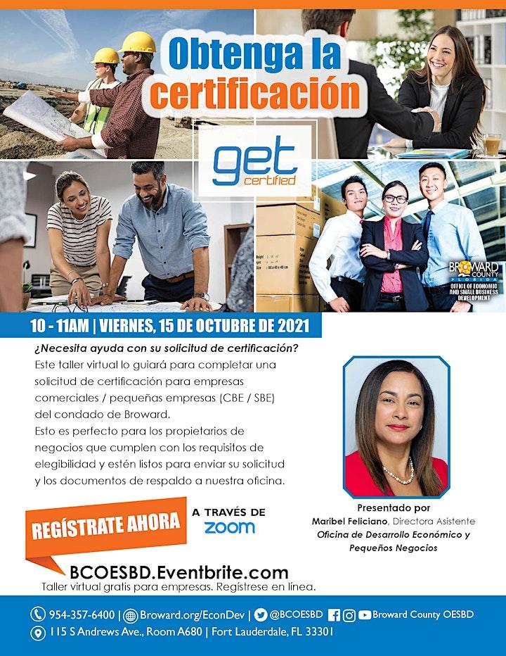 Imagen de Obtenga la Certificación   Get Certified (SPANISH)