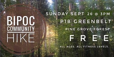 BIPOC monthly community hike - September 2021 tickets
