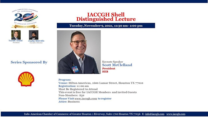 IACCGH Shell Distinguished Lecture Featuring Scott Mcclleland image
