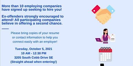 Second Chance Job Fair tickets