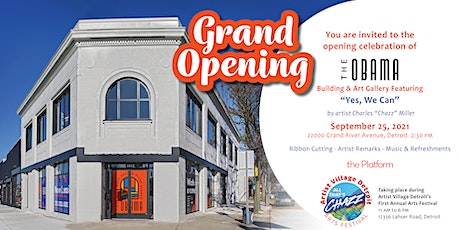 """Obama Building Grand Opening Featuring """"Yes, We Can"""" by Chazz Miller tickets"""