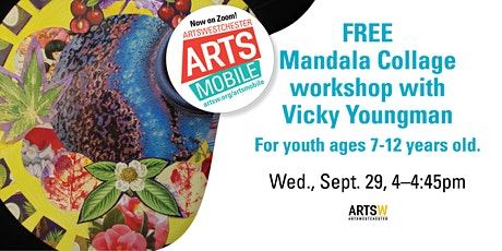 FREE   ArtsMobile   Mandala Collage workshop with Vicky Youngman tickets