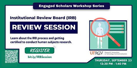 Institutional Review Board (IRB) Workshop tickets