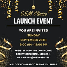 ESM Clinics Launch Event tickets