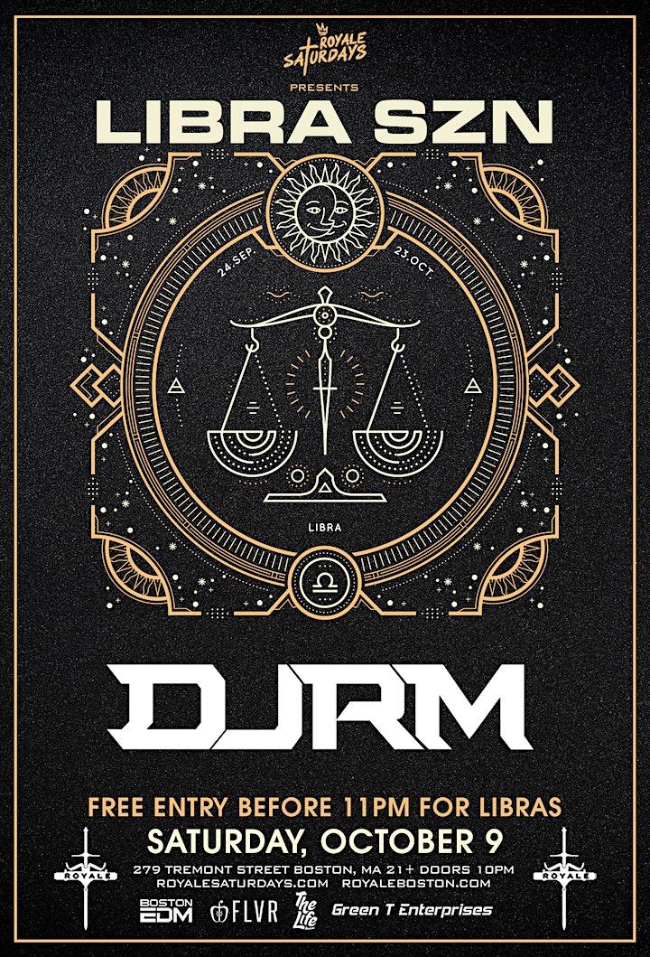 Libra Season Party | Royale Saturdays | 10.9.21 | 10:00 PM | 21+ image