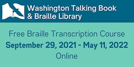 Free Online Braille Transcription Class tickets