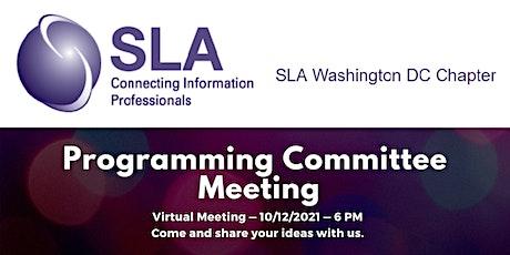 DC SLA October Programming Committee Meeting tickets