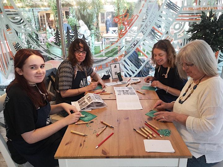 Linocut Printmaking Workshop image