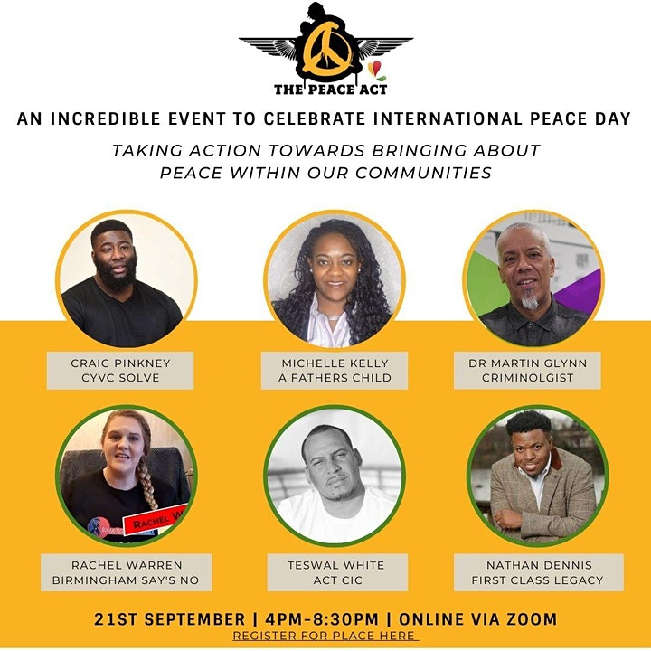 International Peace Day - Youth Violence & Community Resilience Event image