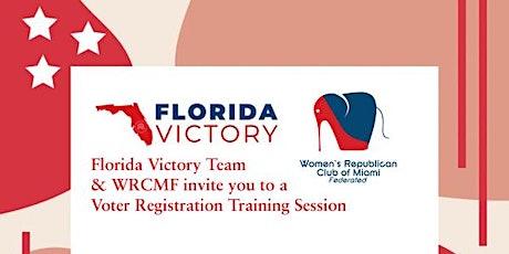 WRCMF  Voter Registration Training entradas