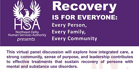 Recovery Is For Everyone: Every Person, Every Family, Every Community tickets