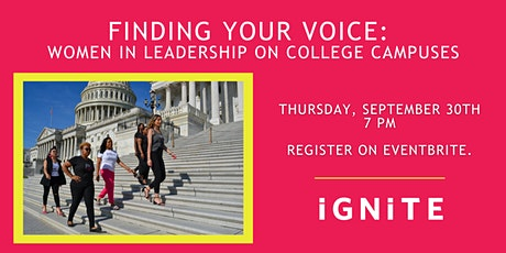Finding Your Voice: Women in Leadership on College Campuses tickets