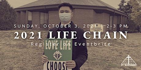 St. Barnabas Parish - 2021 Life Chain tickets