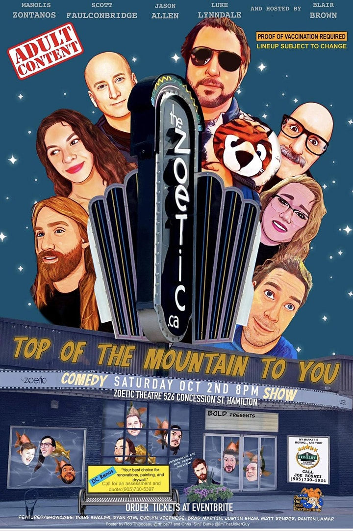 Top of the Mountain to You! Comedy Show image