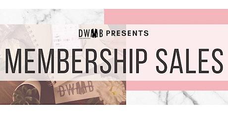 DWIB Membership Sales tickets