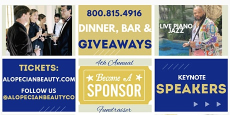 Alopecian Beauty Co 4th Annual Fundraiser and Dinner tickets