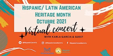 Hispanic/Latin American Heritage Month October 2021- Online Concert - tickets